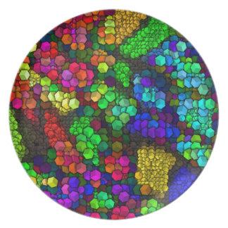 芸術的な立方体4鮮やかな(i) プレート