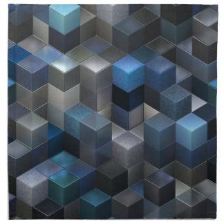 芸術的な立方体9の青(i) ナプキンクロス