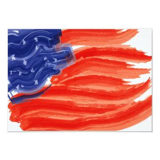 芸術的な米国の旗 カード