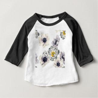 芸術的な花の花のシャクヤクのアネモネの新しい春 ベビーTシャツ