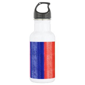 芸術的な虹のストライプ ウォーターボトル
