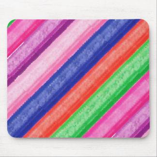 芸術的な虹のストライプ マウスパッド
