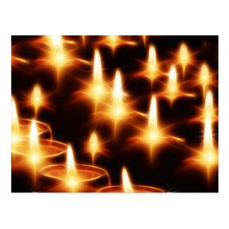 芸術的な蝋燭ライト ポストカード