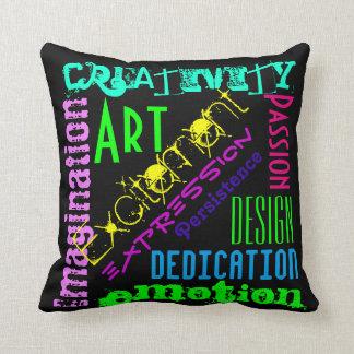 芸術的な表現のカラフルの枕 クッション