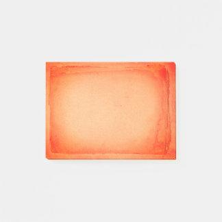 芸術的な赤いオレンジ色彩の鮮やかなスクリーン印刷 ポストイット