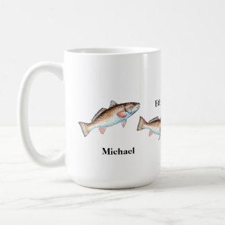 芸術的な跳躍のRedfishの名前入りなマグ コーヒーマグカップ
