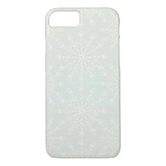 芸術的な雪片が付いているクリスマスの照明パターン iPhone 8/7ケース