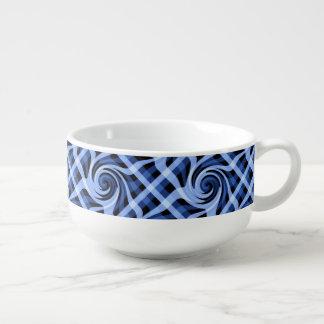 芸術的な青の抽象芸術の渦巻形のなデザイン スープマグ