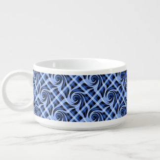 芸術的な青の抽象芸術の渦巻形のなデザイン チリボウル