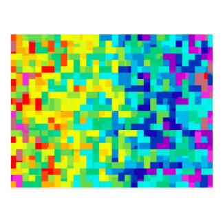 芸術的のとして継ぎ目が無いピクセルパターン背景 ポストカード