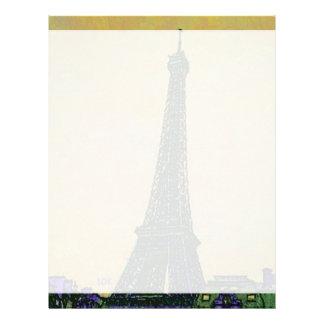 芸術的エッフェル塔のパリフランスの陸標 レターヘッド