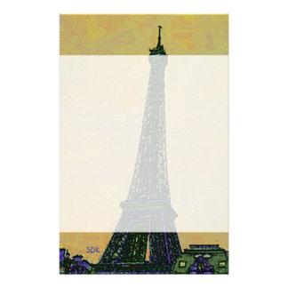芸術的エッフェル塔のパリフランスの陸標 便箋