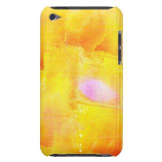 芸術継ぎ目が無い色の黄色の背景の水彩画 Case-Mate iPod TOUCH ケース