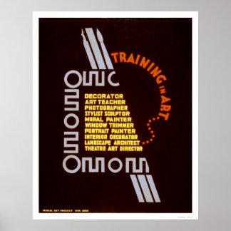 芸術1937 WPAの訓練 ポスター