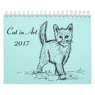 芸術2017年の猫 カレンダー