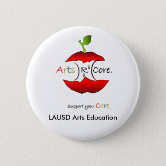 芸術Rの中心、LAUSDの芸術の教育 5.7CM 丸型バッジ