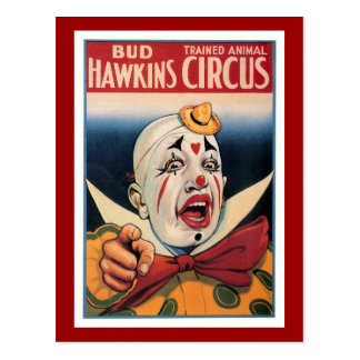 芽のHawkinsのヴィンテージのサーカス ポストカード