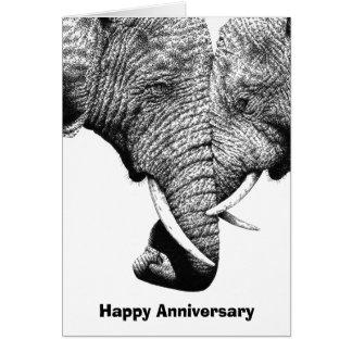 若いアフリカゾウ記念日カード カード
