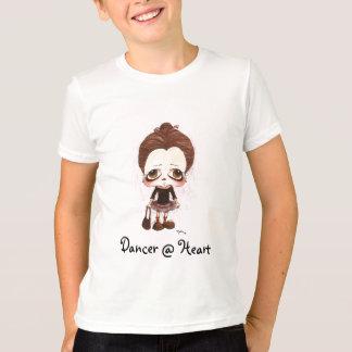 若いダンサーの風刺漫画 Tシャツ