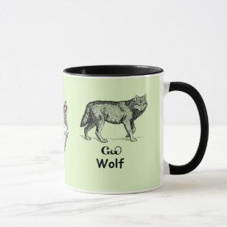 若いチェロキーオオカミ マグカップ