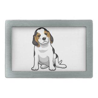 若いビーグル犬の子犬 長方形ベルトバックル