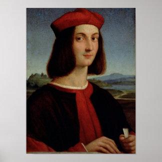 若いピエトロBembo 1504-6年のポートレート ポスター