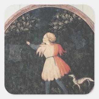 若いファルコナー、フィレンツェの学校 スクエアシール