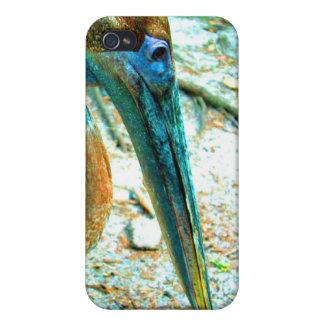 若いペリカンの頭部の打撃、高い飽和色 iPhone 4/4S カバー