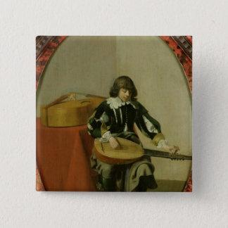 若いミュージシャン 5.1CM 正方形バッジ