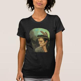 若いモヒカンのポートレートの女性小柄いTシャツ Tシャツ