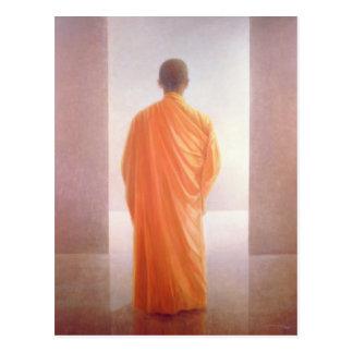 若い修道士の背部眺めベトナム ポストカード