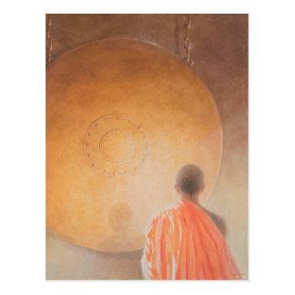 若い僧侶およびどらブータン2010年 はがき