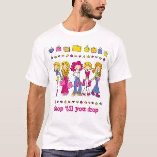 """若い売子- """"落ちるまで""""買物をして下さい「 Tシャツ"""