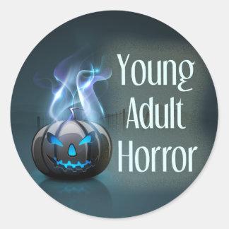 若い大人の恐怖ジャンルの表紙の円形のステッカー ラウンドシール