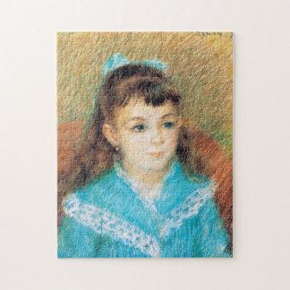 若い女の子のピエールAugusteルノアールの芸術のポートレート ジグソーパズル