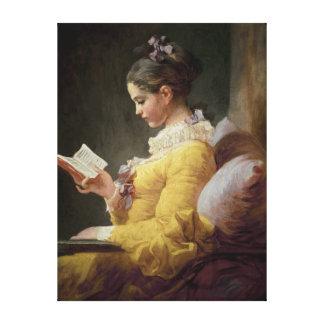 若い女の子の読書、c.1776 キャンバスプリント