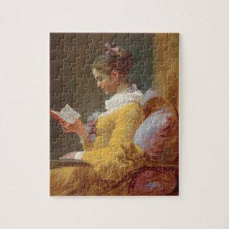 若い女の子の読書、J. Fragonard著読者 ジグソーパズル