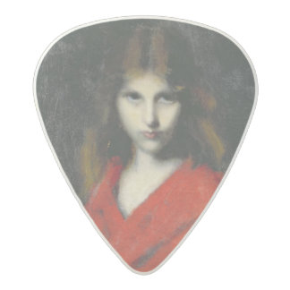 若い女の子、Shivererのポートレート アセタール ギターピック