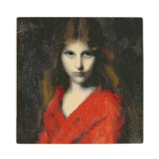 若い女の子、Shivererのポートレート ウッドコースター