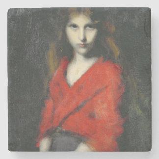 若い女の子、Shivererのポートレート ストーンコースター