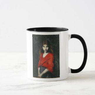若い女の子、Shivererのポートレート マグカップ