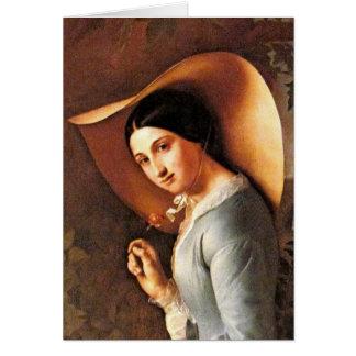 若い女性のポートレート(クラシックなスタイル) カード