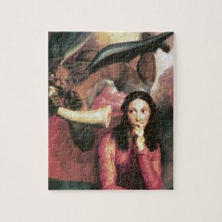 若い女性を誘惑している悪魔 ジグソーパズル