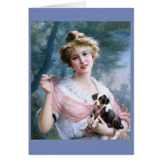 若い女性及び有害な子犬、 カード