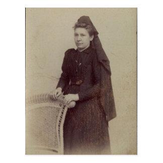 若い寡婦 ポストカード
