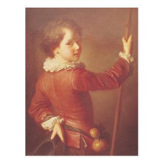 若い巡礼者のポートレート、1725年 ポストカード