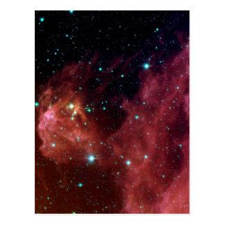 若い星はオリオンの頭部から現れます ポストカード