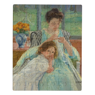 若い母裁縫 ジグソーパズル