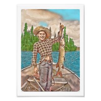 若い漁師 フォトプリント