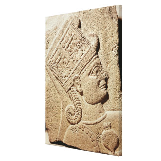 若い王子の頭部を描写するレリーフ、浮き彫り キャンバスプリント